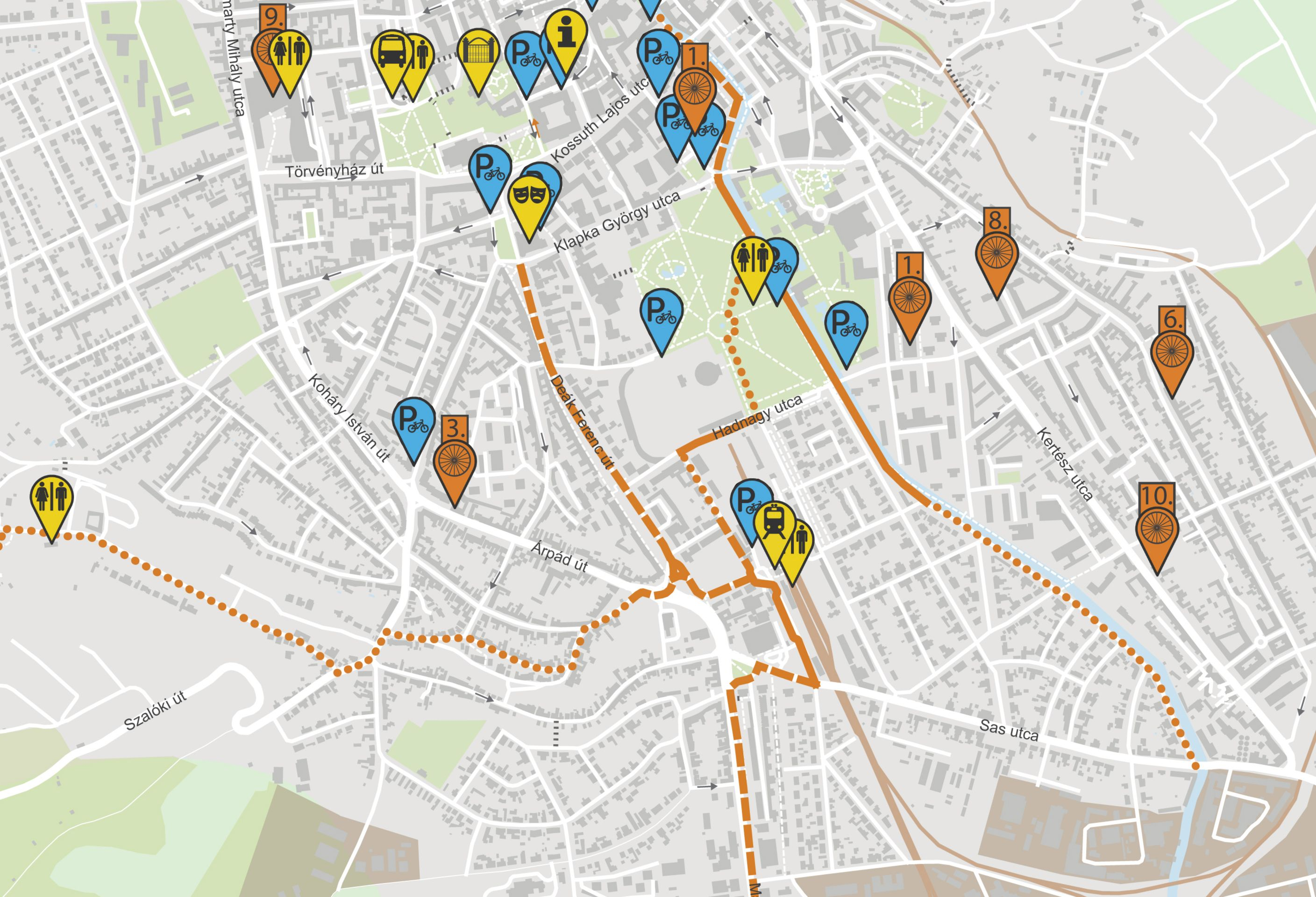 New Pedestrian Cycling And Parking Maps For Eger Mobilissimus Hu